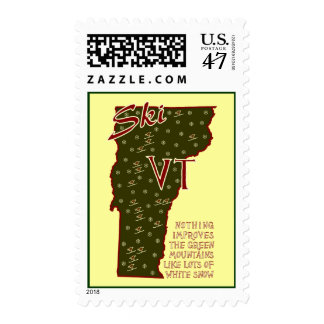 Ski VT Postage