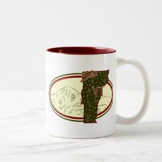 Ski VT Two-Tone Coffee Mug