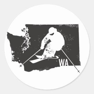 Ski Washington Classic Round Sticker