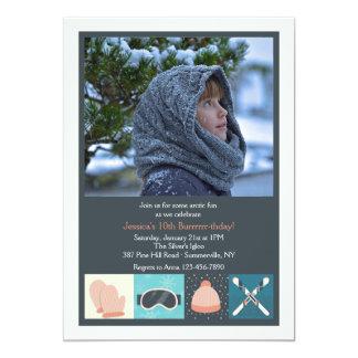 Ski Wear Photo Invitation