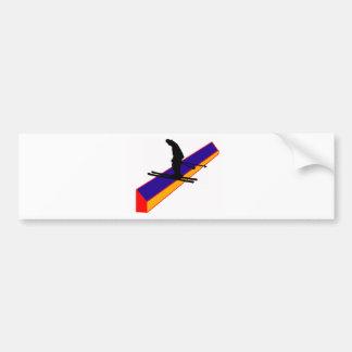 Ski well being bumper sticker
