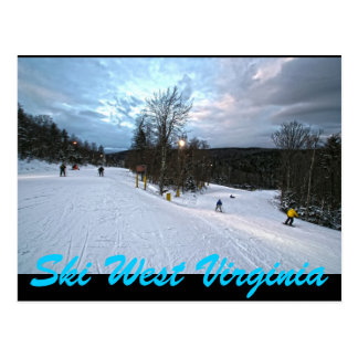 SKI WEST VIRGINIA POSTCARD