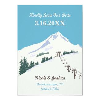 Ski Winter Scene Save the Date Card