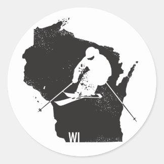 Ski Wisconsin Classic Round Sticker