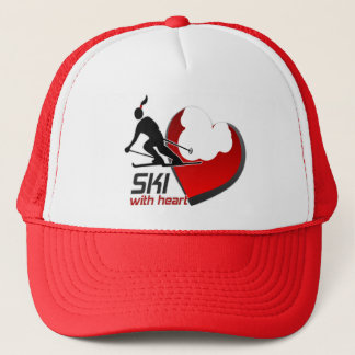 SKI WITH HEART CAP