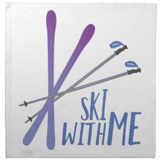 Ski With Me Cloth Napkin