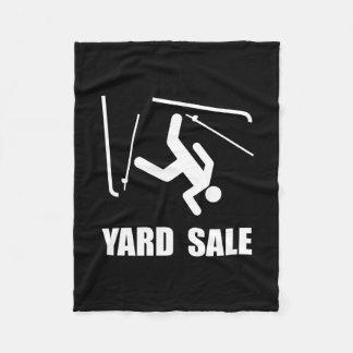 Ski Yard Sale Fleece Blanket