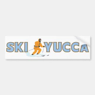 Ski Yucca Bumper Sticker Car Bumper Sticker