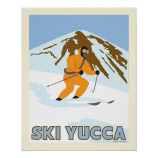 Ski Yucca Travel Poster