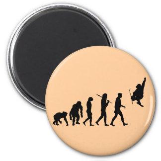 Skiboarding Evolution of skiboards trick ski Gift 2 Inch Round Magnet