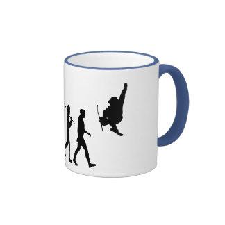 Skiboarding Evolution of skiboards trick ski Gift Ringer Coffee Mug