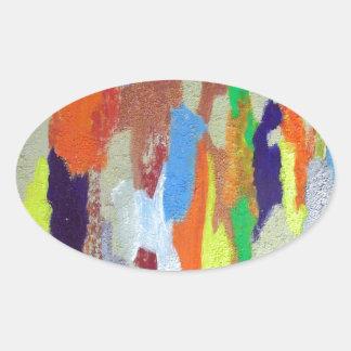 skid marks oval sticker