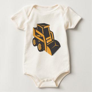 skid steer digger truck baby bodysuit