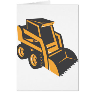 skid steer digger truck card