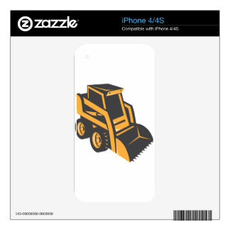skid steer digger truck iPhone 4S decal
