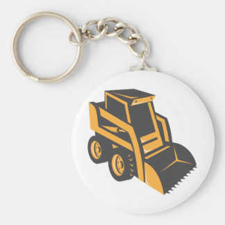 skid steer digger truck keychain