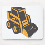skid steer digger truck mouse pad