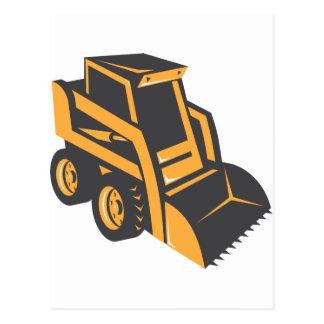 skid steer digger truck postcard
