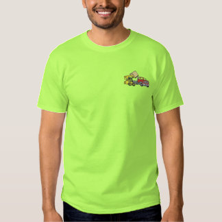 Skid Steer with Truck Embroidered T-Shirt