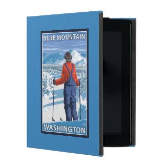 Skier Admiring - Blue Mountain, Washington iPad Folio Cases