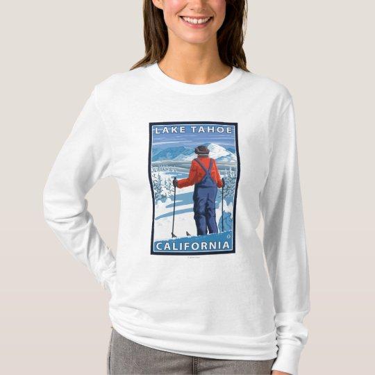 Skier Admiring - Lake Tahoe, California T-Shirt