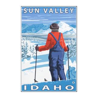 Skier Admiring - Sun Valley, Idaho Canvas Print