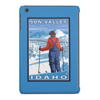 Skier Admiring - Sun Valley, Idaho iPad Mini Retina Covers