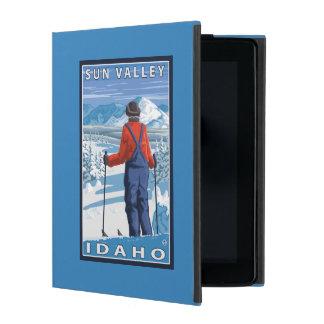 Skier Admiring - Sun Valley, Idaho iPad Cover