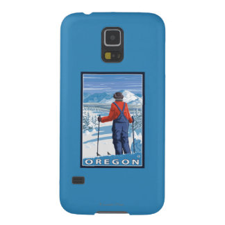 Skier Admiring- Vintage Travel Poster Galaxy S5 Covers