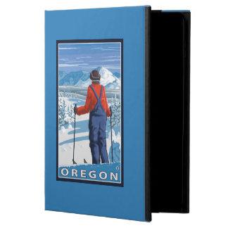 Skier Admiring- Vintage Travel Poster iPad Air Covers