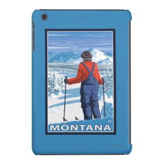 Skier AdmiringMontanaVintage Travel Poster iPad Mini Retina Cover
