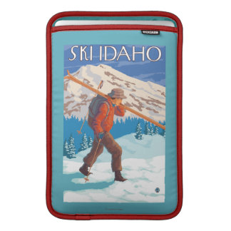 Skier Carrying Snow Skis - Idaho MacBook Air Sleeve