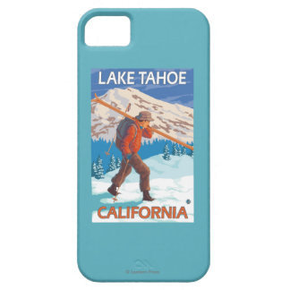 Skier Carrying Snow Skis - Lake Tahoe, Californi iPhone SE/5/5s Case