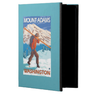 Skier Carrying Snow Skis - Mount Adams, WA iPad Air Cases