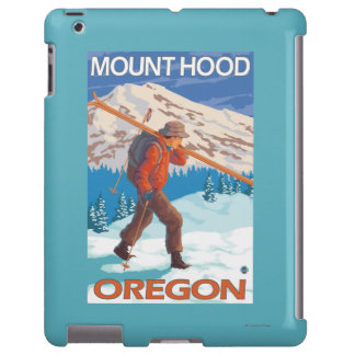 Skier Carrying Snow Skis - Mount Hood, OR