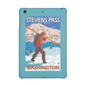 Skier Carrying Snow Skis - Stevens Pass, WA iPad Mini Case