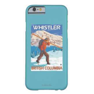 Skier Carrying Snow Skis - Whistler, BC Canada Barely There iPhone 6 Case