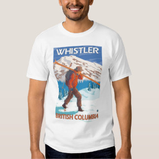Skier Carrying Snow Skis - Whistler, BC Canada Shirt