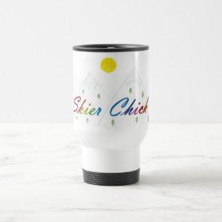 Skier Chick travel mug