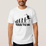 SKIER EVOLUTION BORN TO SKI 01.png Shirt