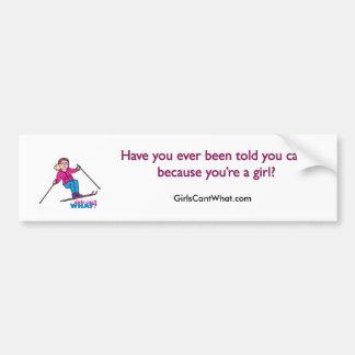Skier Girl Bumper Sticker