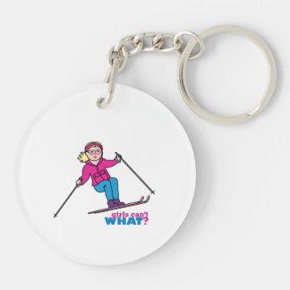 Skier Girl Keychain