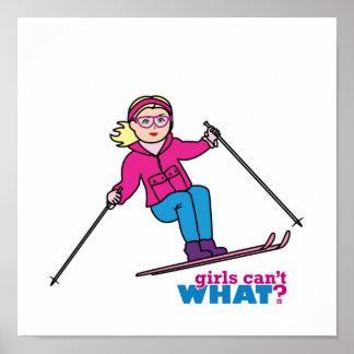 Skier Girl Print