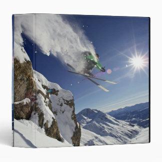 Skier in Midair 3 Ring Binders