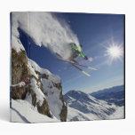 Skier in Midair Binder