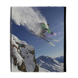 Skier in Midair iPad Folio Cover