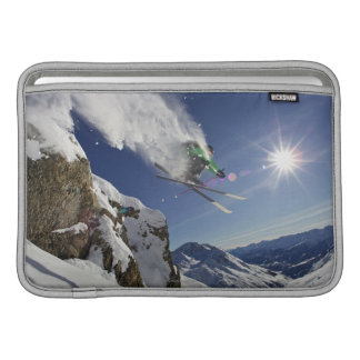 Skier in Midair MacBook Sleeve
