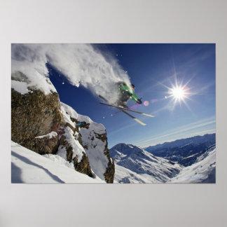 Skier in Midair Poster