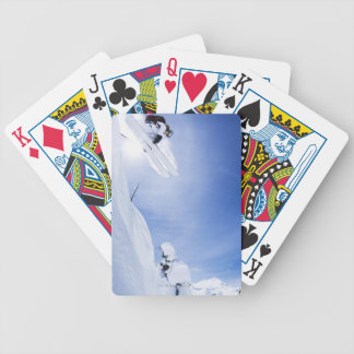 Skier Jumping Bicycle Playing Cards