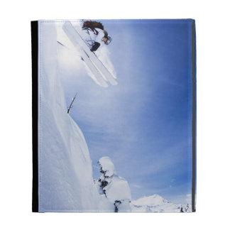 Skier Jumping iPad Case